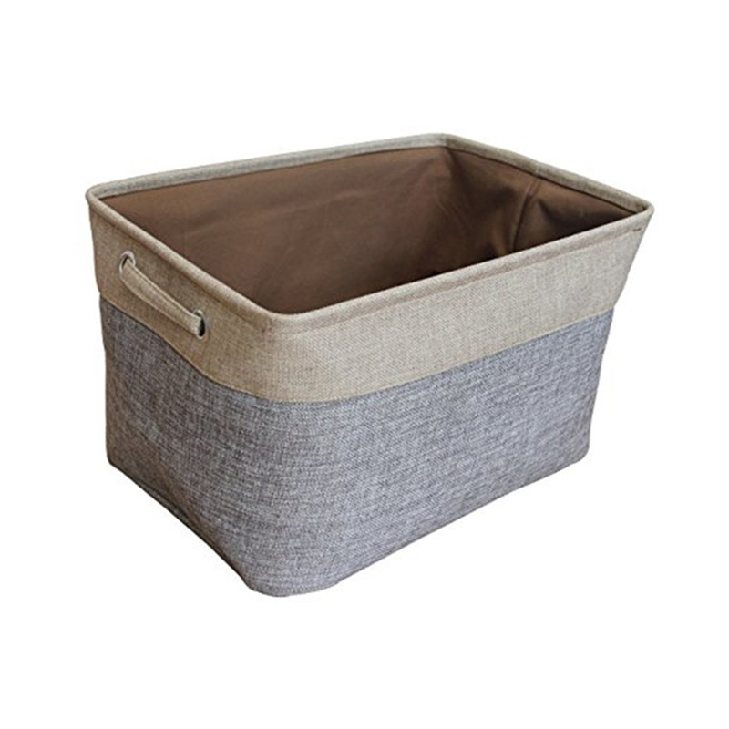 collapsible rectangular fabric storage bin organizer basket with handles for clothes storagetoy organizer toy