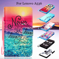 for Lenovo A 536 Leather Stand Funda Capa  Pattern Printing Leather Wallet Cover Coque for Lenovo A536 Phone Cover Bag