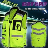Motorcycle Motorbike Shirt Moto Car Racing Clothing Visible Warning Reflective MIL SPEC MESH Mesh Cloth Jacket