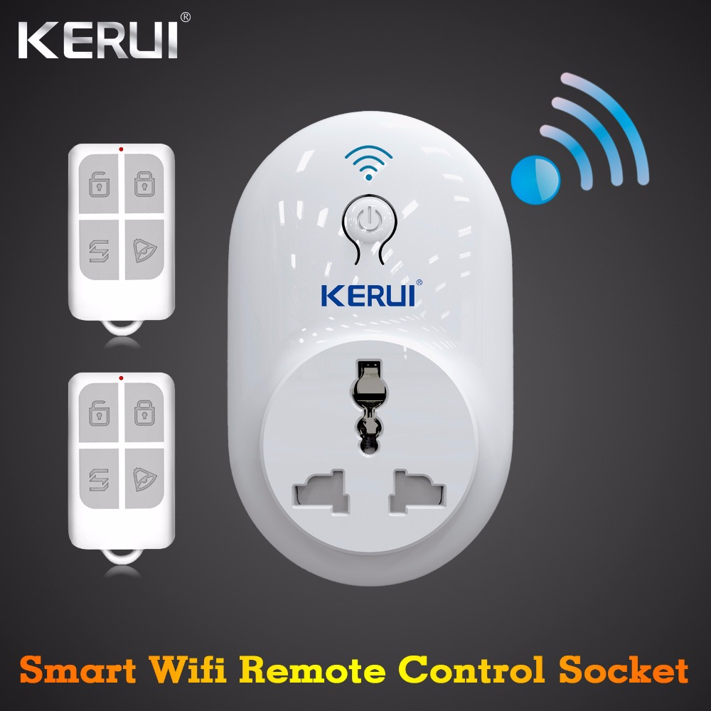 Kerui S72 Wireless Switch Wifi Smart Socket Power Supply Plug 433MHz EU US UK AU for Home Security Alarm System Remote Control kerui wireless remote switch smart socket power eu us uk au plug standard for home security alarm system g19 g18 8218g 433mhz