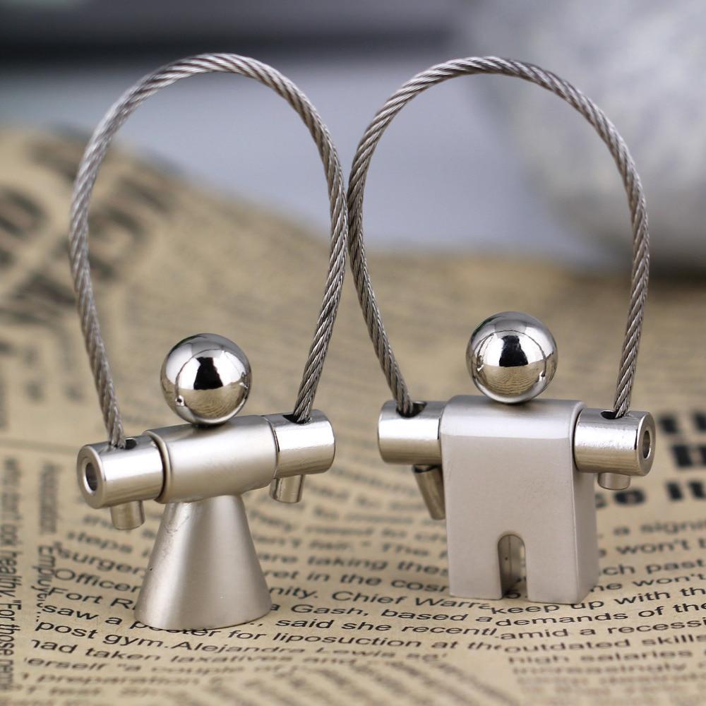 boy girl couple keychain key ring wire rope key chain llaveros mujer valentines gift high quality chaveiro portachiavi
