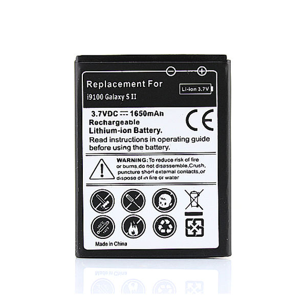 GOLDFOX 1650mAh Rechargeable Battery Replacement for Samsung Galaxy S2 <font><b>i9100</b></font> GT-<font><b>i9100</b></font> Battery Drop & Free Shipping Wholesale image