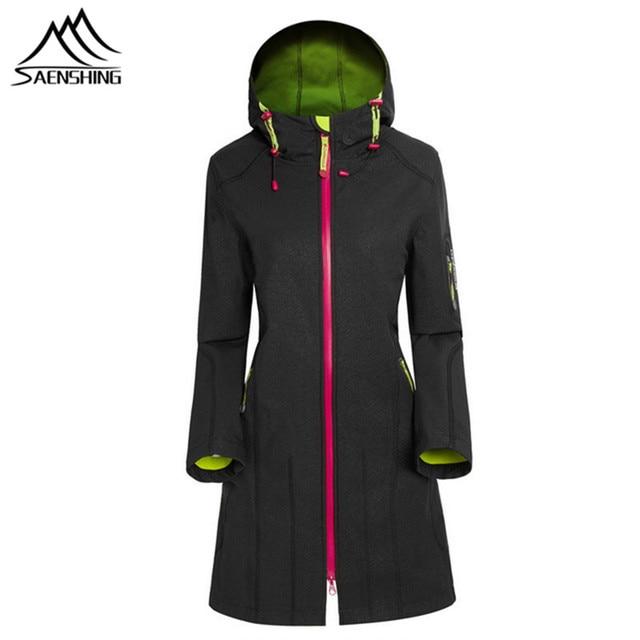 ead9b7409d9f Autumn Women s Fleece Softshell Jacket Girls Winter Windproof ...