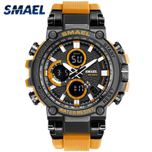 лучшая цена Sport Watch For Men SMAEL Digital Watch Waterproof 50M Army Military Clock Ally Case Watches 1803 relogio masculino Men Watches