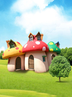 Mushroom House Green Screen 5x7ft Vinyl Backdrop For Photography Background Children Baby Newborn Photography Props Backdrops
