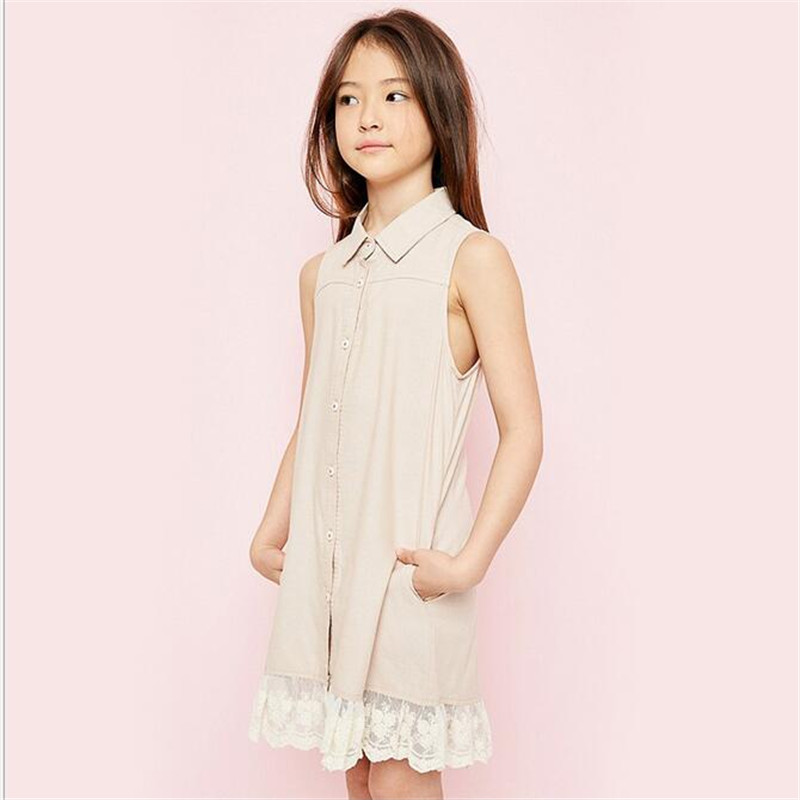 Big Baby Girls Lace Dresses Teenager Fashion  Dress Junior Summer Clothing childrens wholesale  clothes
