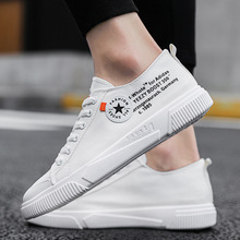 купить Men Shoes Casual Spring/Autumn 2019 Oxfords Canvas Breathable Lace-Up Shallow Fashion Sneakers Brand Shoes Man Plus Size 39-44 дешево
