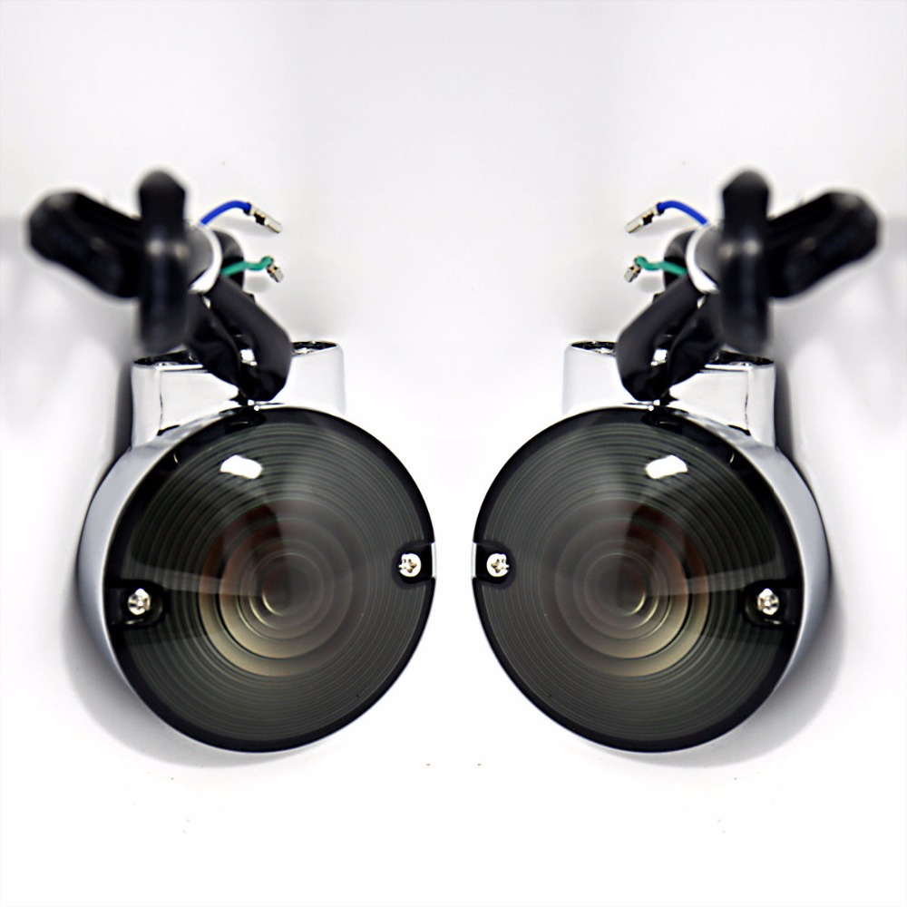 Rear Smoked Turn Signals For Harley Road King&Road Glide FLHR FLH/T FLTR 86-13 14 15 16 17 billet rear hub carriers for losi 5ive t