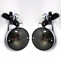 Rear Smoked Turn Signals For Harley Road King&Road Glide FLHR FLH/T 1986 2013 14 15 16 17 Models