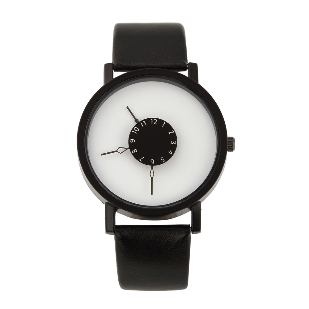 Drop Shipping Watches For Men Women Casual Minimalist Quartz Leather Lovers Wrist Watch Simple Couple Wristwatches Gift