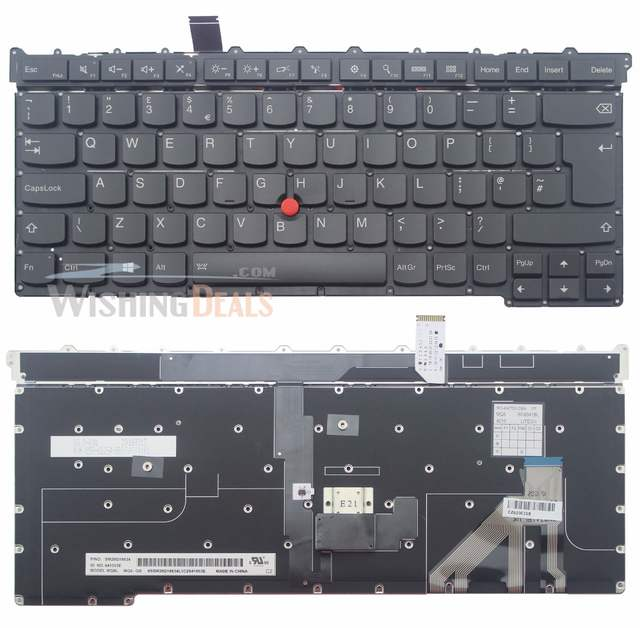 US $36 68 |NEW For Lenovo ThinkPad X1 Carbon Gen 3 UK Black Backlit  Keyboard SM20G18634 SG 64700 2BA SN8341BL-in Replacement Keyboards from  Computer &