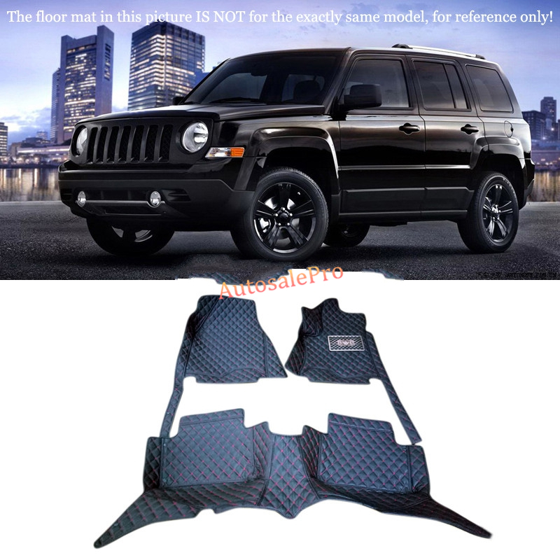 for For Jeep Patriot 2011 2012 2013 2014 2015 Left & Right Hand Drive! Black red grid Front Rear Floor Mat Carpets Pad Cover for mercedes benz c class w204 2008 2009 2010 2011 2012 2013 right left hand drive black front rear floor mat carpets pad cover