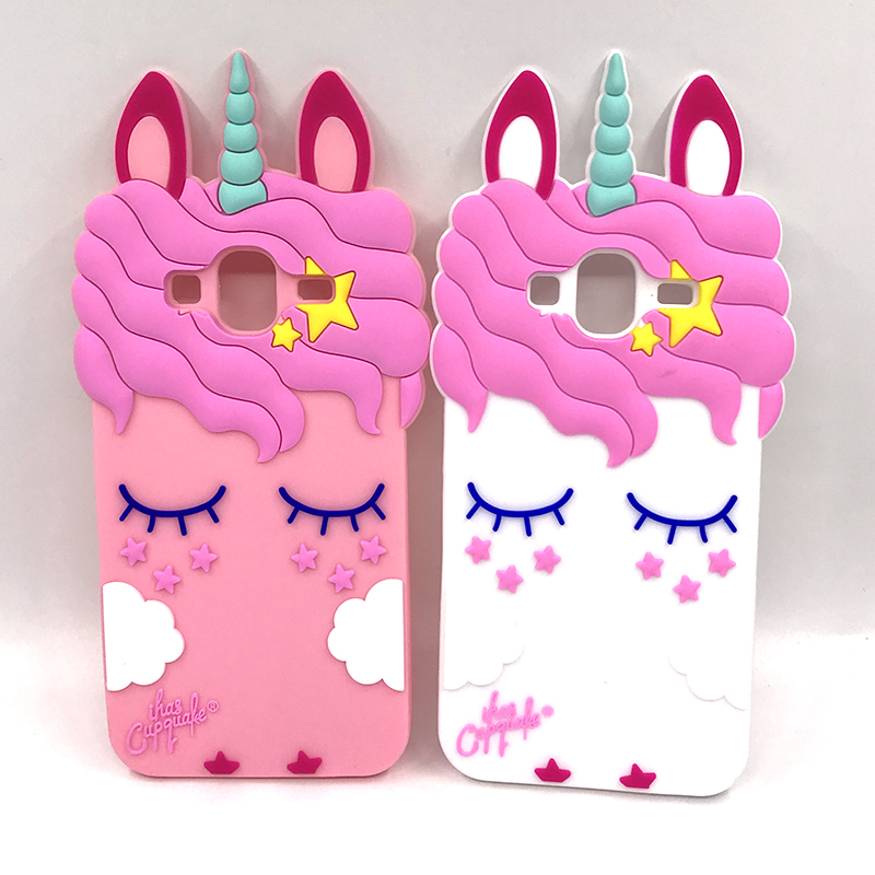 Image 5 - Unicorn Case For Samsung Galaxy J3 2016 Cover Cartoon Silicone Case For Coque Samsung J3 2016 Phone Cases 3D Cute Girl J3 Funda-in Fitted Cases from Cellphones & Telecommunications