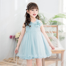 Summer Baby Girls Dress Toddler Dresses Kids Princess 2018 Girl Birthday Infant Party Clothing Sleeveless Flower Filles kids clothing summer dresses girls toddler girl princess dress sleeveless polka dots bowknot lovely birthday party sundress hot