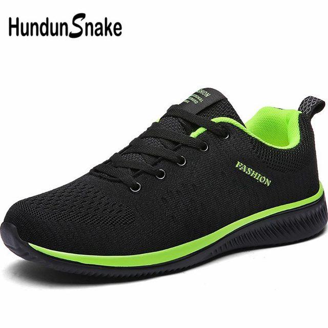 Hundunsnake Breathable Sport Shoes Men Sneakers Mens Running Shoes Sports Summer Training Shoes Men Tennis Black Trainers B-015