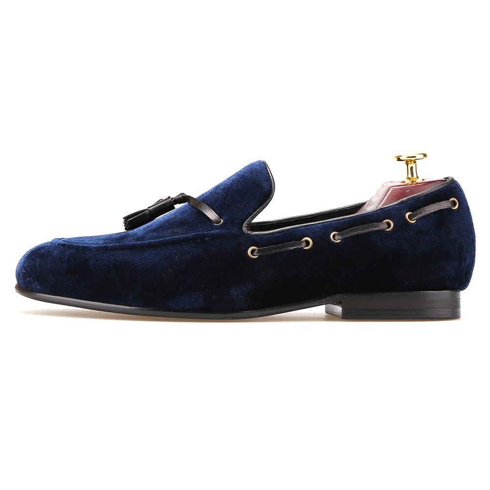 Moda Estate Style Mocassini morbidi Uomo Mocassini Scarpe in vera pelle Uomo Flats Driving Shoes Navy 14 7cOkU