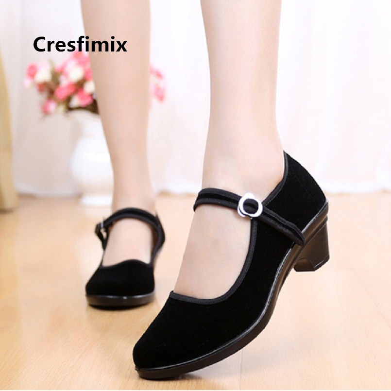 Women Cute Comfortable Spring Retro Ballet Dance Shoes Lady Cool Stylish Buckle Clip Cloth Shoes Zapatos De Mujer Lady Shoes