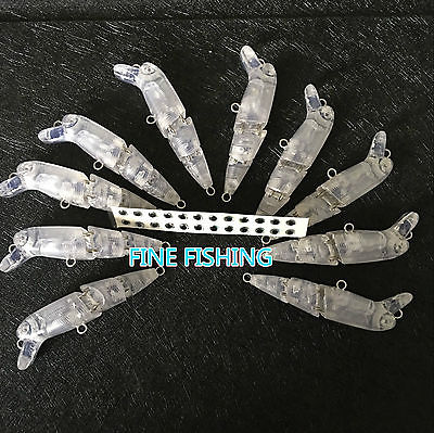 10pcs Unpainted Crankbait Fishing Lure <font><b>Body</b></font> <font><b>Popper</b></font> <font><b>2</b></font> 1/<font><b>2</b></font> Inch 3/16 OZ Blank lure JSE073