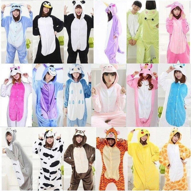 Femmes Chaud pyjamas unicornio Nuit Adulte Hiver Couple Pyjamas Animaux pyjamas pyjama femme pijama licorne onesis