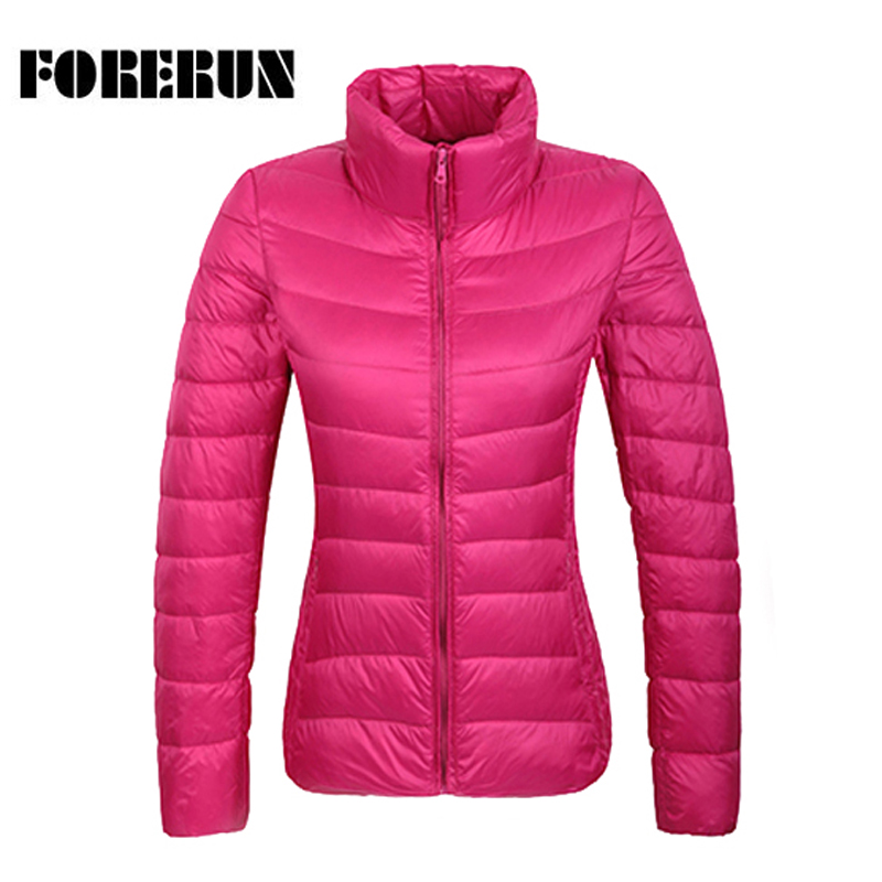 14 Colors 2017 Winter Jacket Women Ultra Light   Down   Jackets Stand Collar Warmer   Coat   Solid Female Parka and Jacket Top Quality