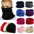 2016 New 3 in 1 Men Women Unisex Polar Fleece Snood Hat Neck Warmer Face Mask Cap Autumn Winter bonnet Scarf Beanie Balaclava Z1