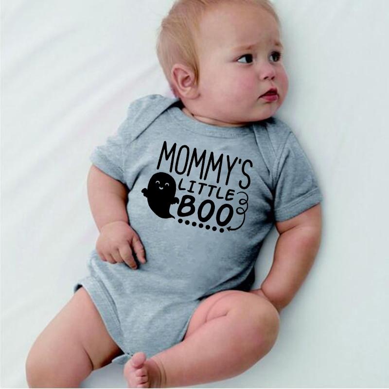Baby Halloween gift 0-24M letters   Romper   Newborn Infant Baby Boys Girls Mommy's little boo Print   Romper   Jumpsuit roupa de bebe