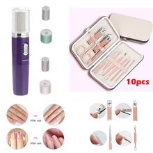 Portable Nail Art Tools Electric Drill Bits Manicure Set Grinder Polisher Clipper Pedicure Kit