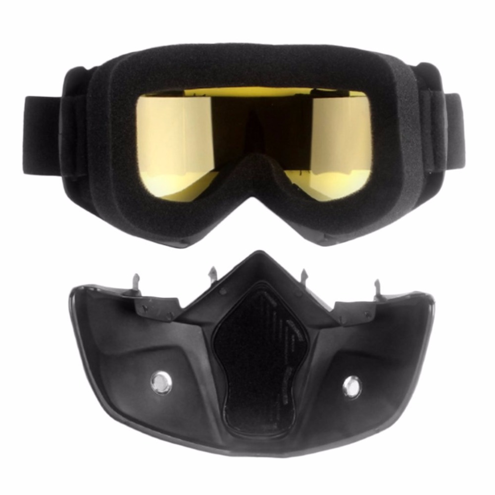 Vintage Protective Helmet Goggles Motor Cool Mask Goggles Glasses Cycling Eye Ware MX Off Road ski with Adjustable Elastic StrapVintage Protective Helmet Goggles Motor Cool Mask Goggles Glasses Cycling Eye Ware MX Off Road ski with Adjustable Elastic Strap