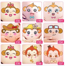10 pcs/lot Cute Maternity Photography Props 3D Belly Stickers Pregnant Women Photo Temporary Tattos Cartoon FREE SHIPPING