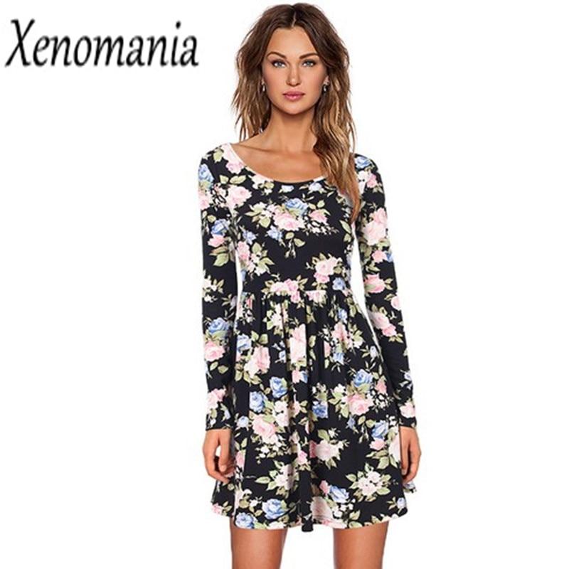 Boho Clothing Autumn Dress Winter Cheap Clothes China 2017 Lolita Kawaii Vestidos Floral Dress Ukraine Vintage Dresses Brazil