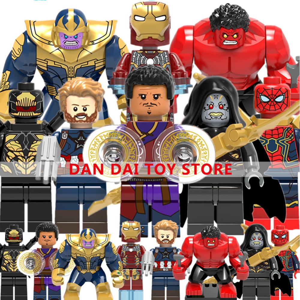 Legoing Figures Super Hero Brick Building Blocks Toys Figures Thanos Wong Corvus Glaive Captain America Iron Man Legoes XF30 compatible legoinglys marvel super hero avengers turret moc building blocks mini captain america spider man figures brick toys