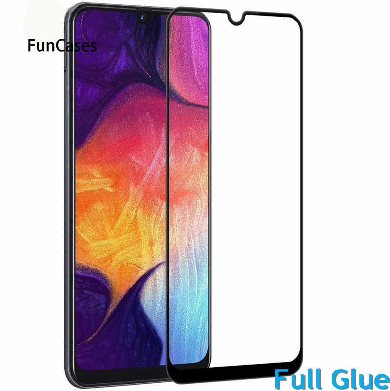1 pçs cola completa protetor de tela para samsung galaxy a10 a105 vidro temperado cobertura completa para samsung a10 9 h 2.5d premium filme