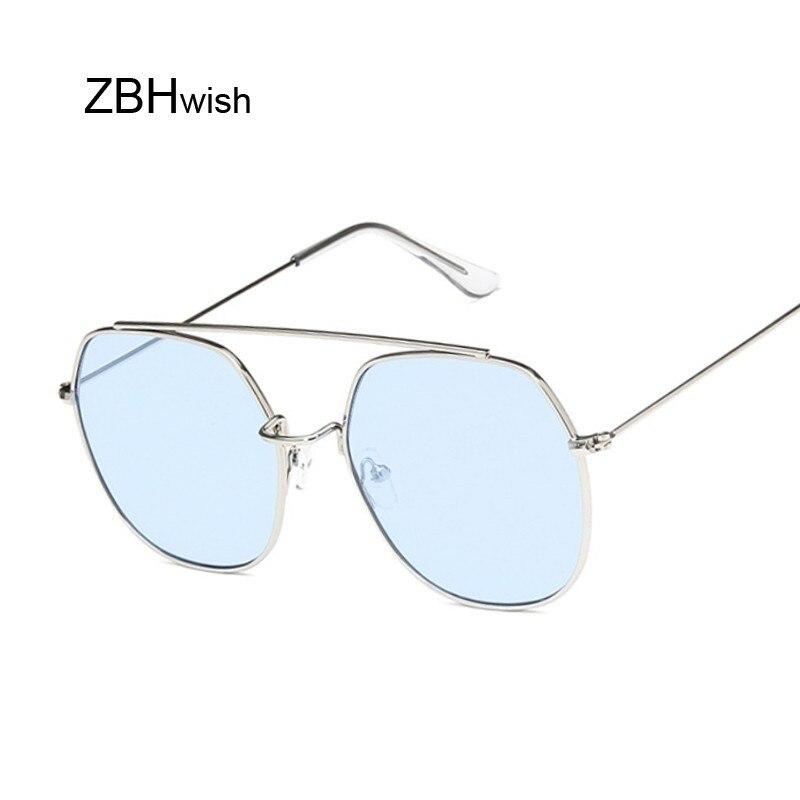 Vintage Oversized Sunglasses Women Luxury Brand Metal Big Frame Glasses Lady Round Sun Glasses Female Cool Retro Eyewear