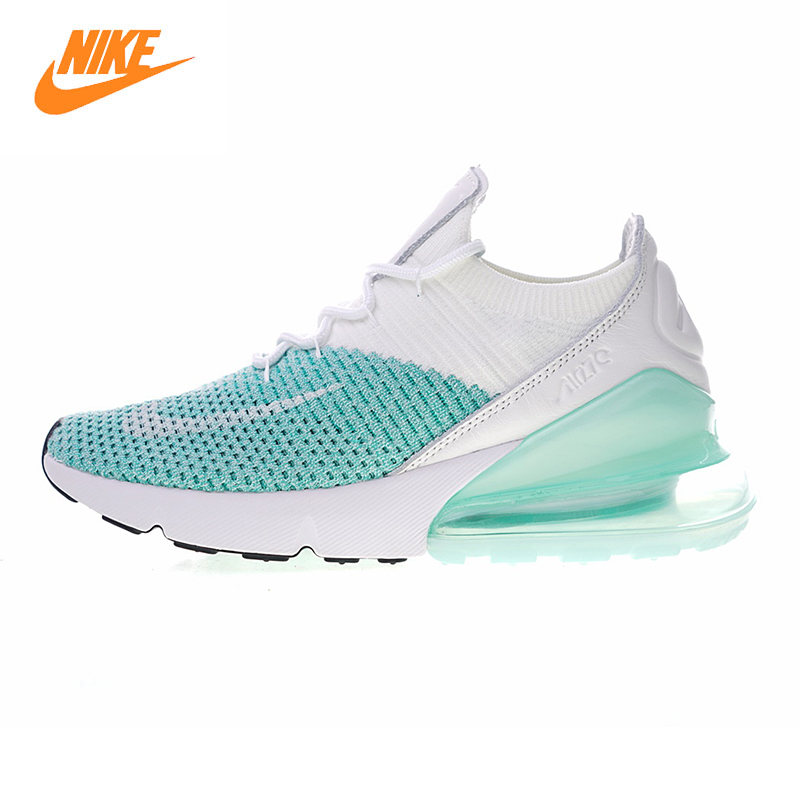 Nike Air Max Blanco 270 Flyknit WoHombres Running Zapatos Blanco Max Azul No 393dd3