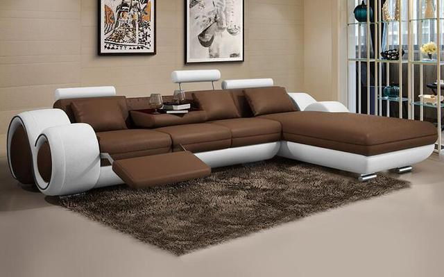 Rindsleder leder sofa wohnzimmer sofa Kunst minimalis moderne mode ...
