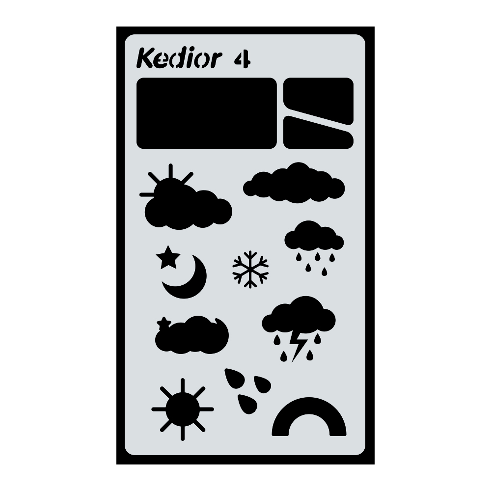 Bullet Journal Supplies,1 Piece Plastic Planner Stencil DIY Drawing Art Supplies for Journal,Notebook,Diary,Scrapbook #4