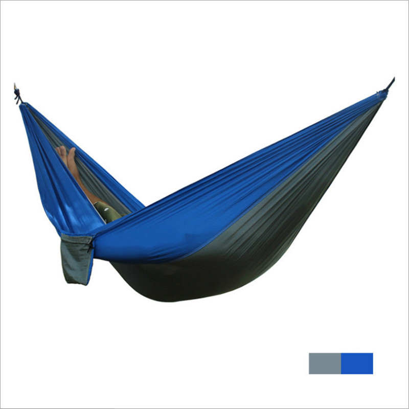 где купить Double Parachute Taffeta Hammock Outdoor Leisure Hammock Swing Size 270*140cm Splice Camping Hammock SP004 по лучшей цене