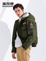 BOSIDENG NEW winter short down jacket for men goose down coat thicken warm Pilot Jacket waterproof oversize plus size B80142165S