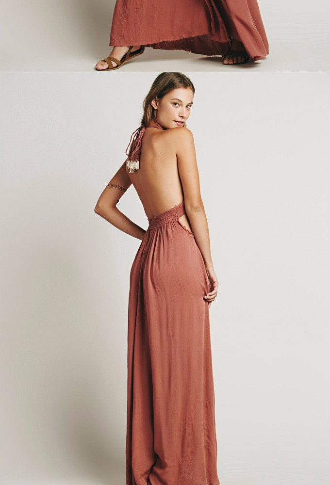 Jastie Stretchy Hollow Waist Deep V Neck Maxi Dresses Backless ... fc5d75325