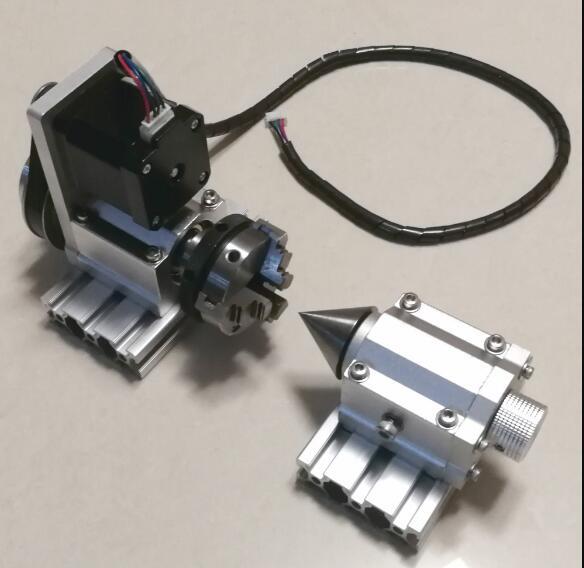 DA 50 CNC engraving machine rotating shaft round A fourth axis 1 3 TAKE 3chuck