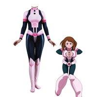 Women Kids Anime 3D Women My Hero Academia Boku no Hero Academia OCHACO URARAKA Cosplay Costume Zentai Bodysuit Suit Jumpsuits