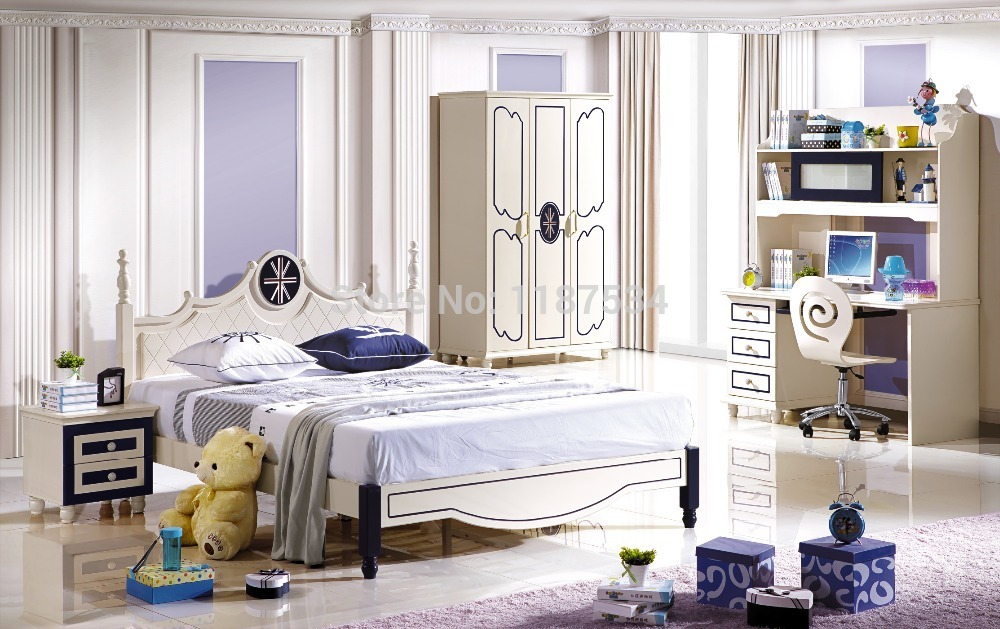 6620 Wooden Furniture Set Colorful Bedroom Bed Wardrobe And Desk In Sets From On Aliexpress