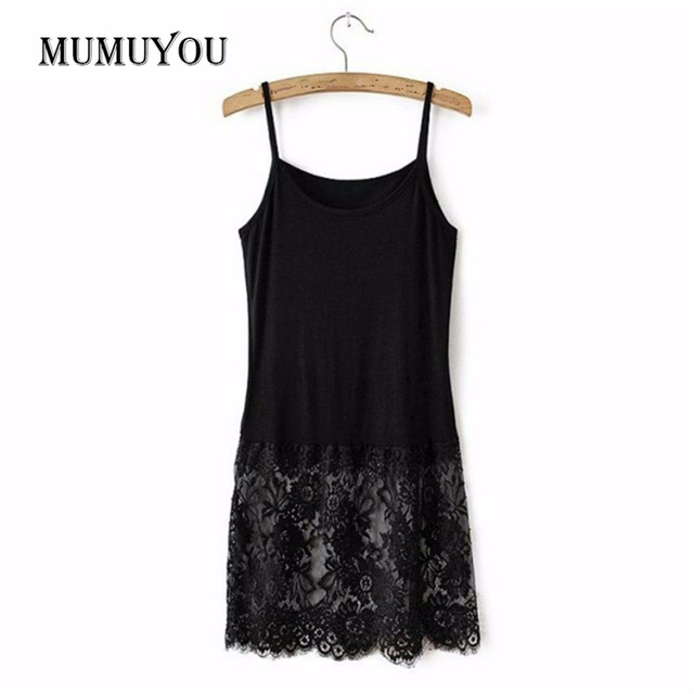 7e01b0ad1a3 Women Lady Sexy Long Camis Casual Solid Black White Cotton Undershirt  Camisole Top Summer New Underdress Fashion Tops 904 730-in Camis from  Women's ...