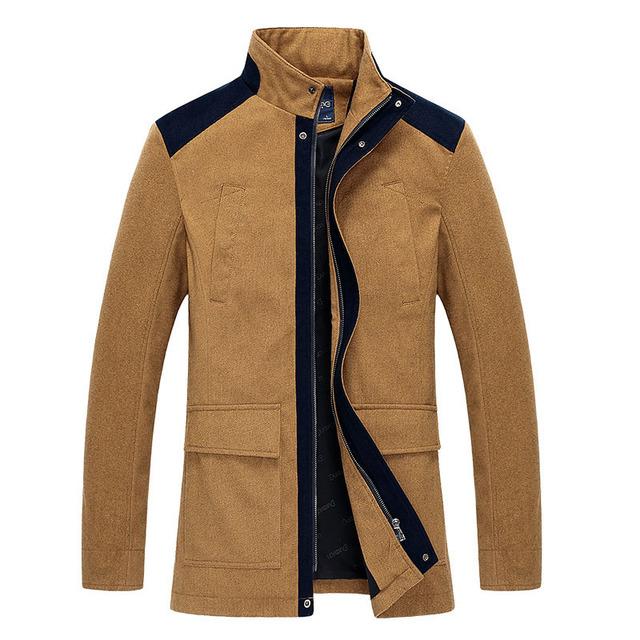 La primavera y el otoño para hombre chaquetas de moda casual de algodón capa de los hombres rompevientos moda businese Abrigo hombres