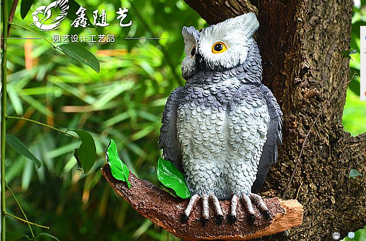 2019 simulation resin parrot and owl home decoration handicrafts, creative animal bird model, garden and wedding decoration gift