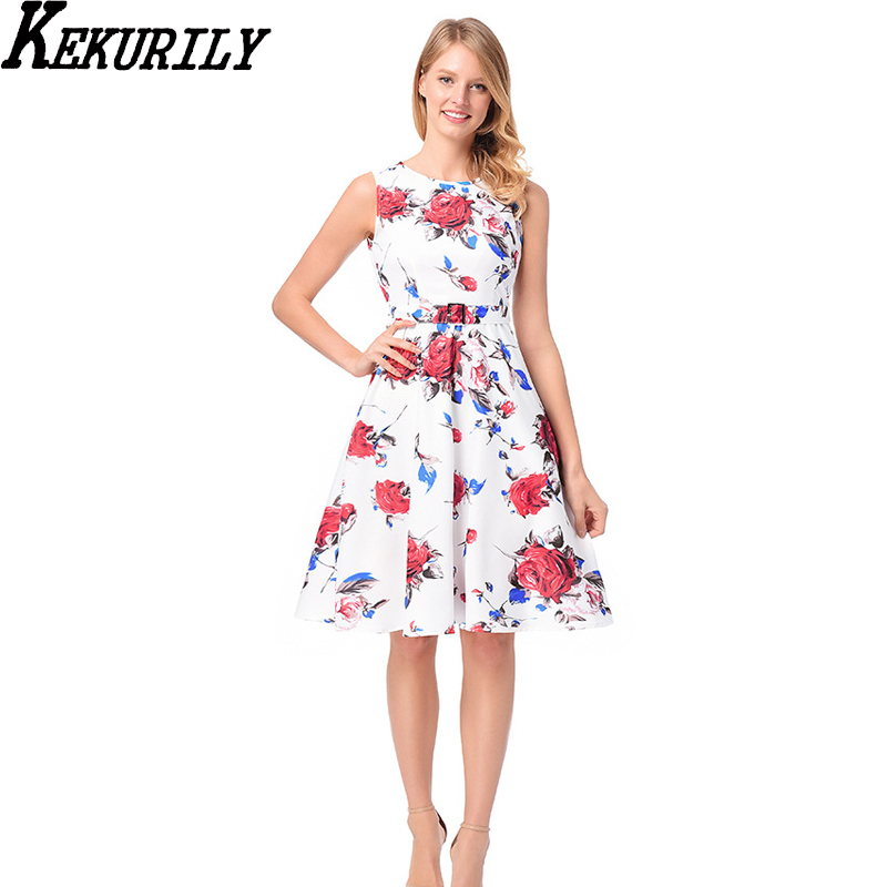 Aliexpress.com : Buy KEKURILY Sleeveless Dresses Knee
