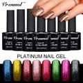 Vrenmol 1pcs Platinum UV Gel Shining Nail Gel Polish Platinum Long-lasting UV/LED Fingernail Gel Glitter Manicure