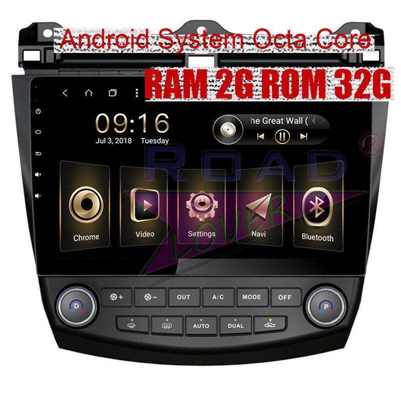 Roadlover Android 8.1 Car Multimedia Player For Honda Accord 2004 2005 2006 Stereo GPS Navigation Radio Magnitol 2 Din NO DVD