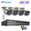 H.265 8CH 1080P POE Beveiliging Cctv-systeem NVR Kit twee-weg Audio 2MP IR Outdoor Waterdichte AI IP camera P2P Video Surveillance Set
