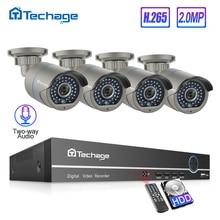 H.265 8CH 1080P POE CCTV System Sicherheit NVR Kit Zwei Weg Audio 2MP IR Im Freien Wasserdichte AI IP Kamera p2P Video Überwachung Set
